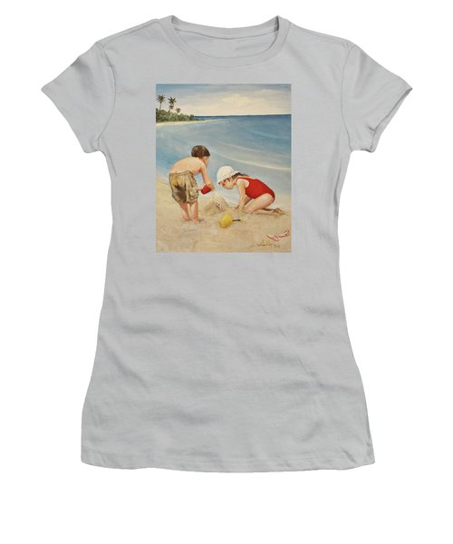 Seashell Sand And A Solo Cup Women's T-Shirt (Athletic Fit)