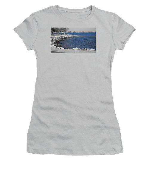 Seaside Blue Women's T-Shirt (Athletic Fit)