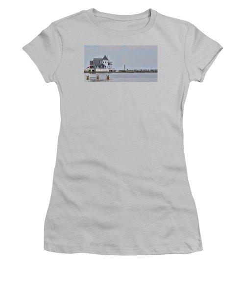 Women's T-Shirt (Junior Cut) featuring the photograph Seaside Park Yacht Club by Sami Martin