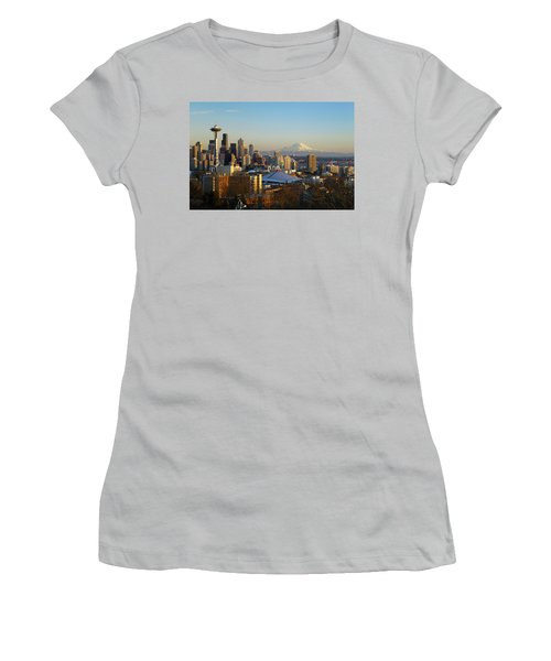 Seattle Cityscape Women's T-Shirt (Athletic Fit)