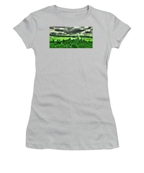 Seattle - The Emerald City Panorama Women's T-Shirt (Junior Cut) by David Patterson