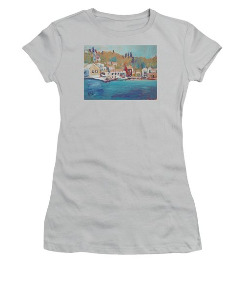 Seaview Lggos Paxos Women's T-Shirt (Athletic Fit)