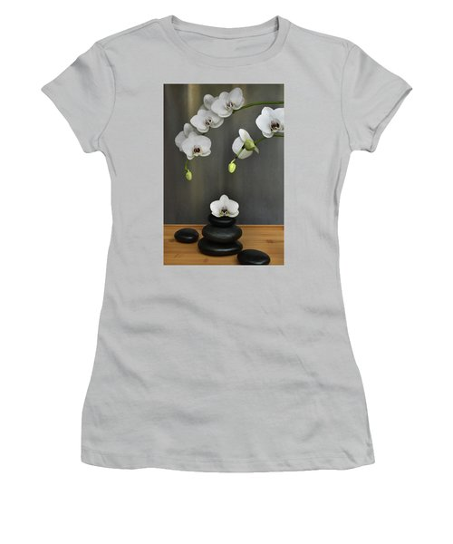 Women's T-Shirt (Junior Cut) featuring the photograph Serene Orchid by Terence Davis