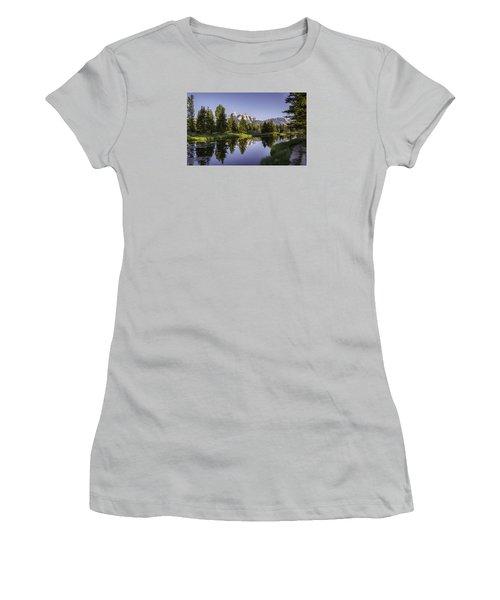 Serene Schwabachers Women's T-Shirt (Junior Cut) by Mary Angelini