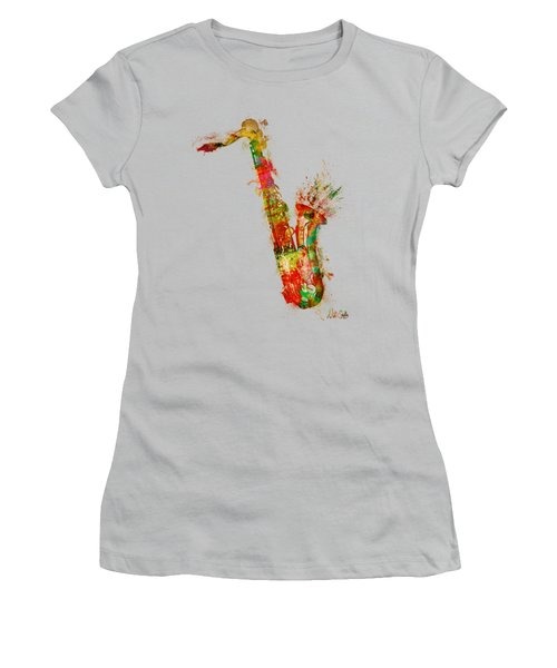 Sexy Saxaphone Women's T-Shirt (Junior Cut) by Nikki Smith