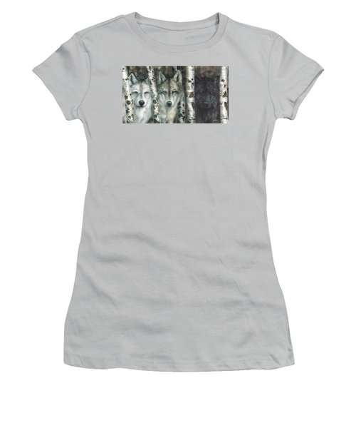 Shades Of Gray Women's T-Shirt (Athletic Fit)