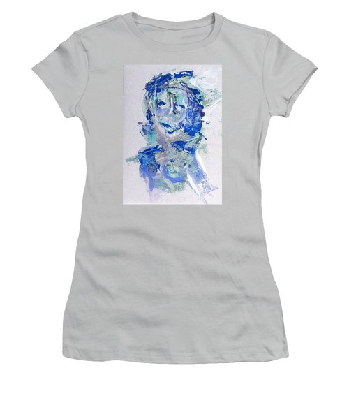 She Dreams In Blue Women's T-Shirt (Athletic Fit)