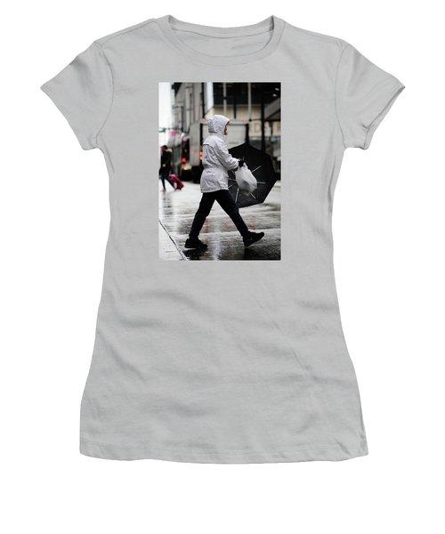 Women's T-Shirt (Junior Cut) featuring the photograph Sheild Of Rain  by Empty Wall