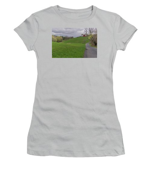 Shelburne Country Road Women's T-Shirt (Junior Cut) by Tom Singleton