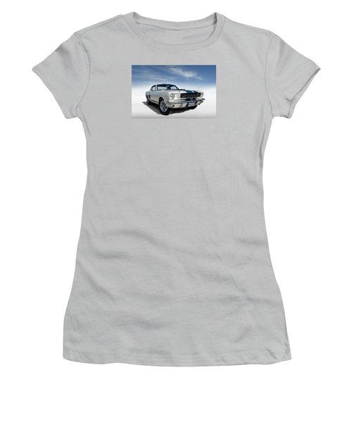 Women's T-Shirt (Junior Cut) featuring the digital art Shelby Mustang Gt350 by Douglas Pittman