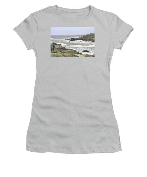 Shipwrecked Women's T-Shirt (Junior Cut) by Sharon Batdorf