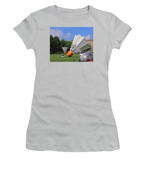 Shuttlecock Visitors Women's T-Shirt (Junior Cut) by Christopher McKenzie