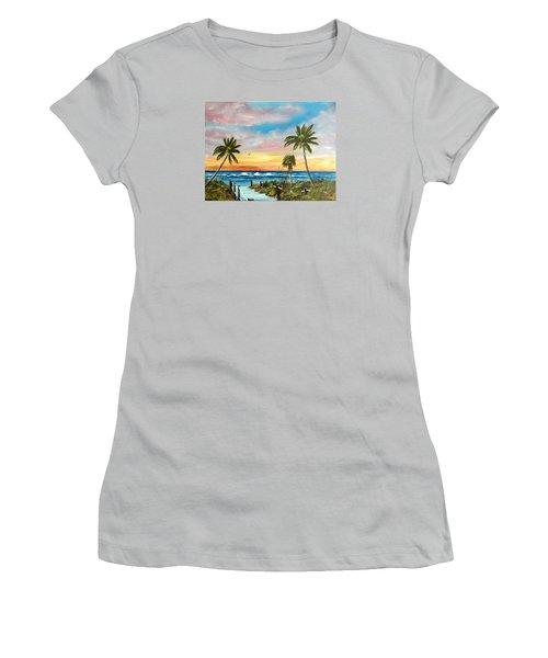 Siesta Key At Sunset Women's T-Shirt (Junior Cut) by Lloyd Dobson