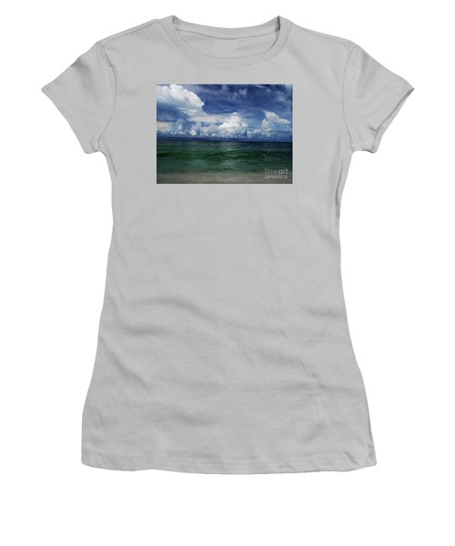 Women's T-Shirt (Athletic Fit) featuring the photograph Siesta Key by Gary Wonning