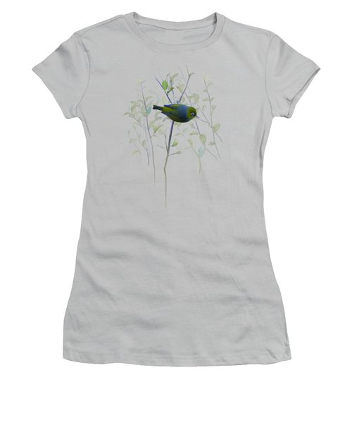 Silvereye Women's T-Shirt (Junior Cut) by Ivana Westin