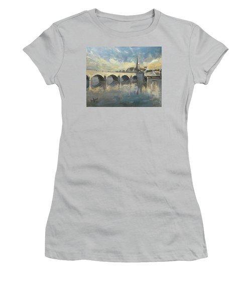 Sint Servaas Bridge Maastricht Women's T-Shirt (Athletic Fit)
