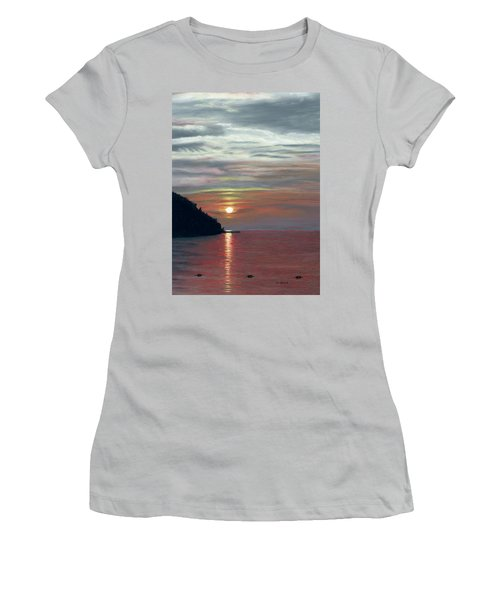 Sister Bay Sunset Women's T-Shirt (Athletic Fit)