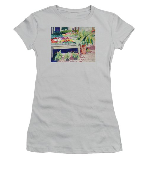 Small Garden Scene Women's T-Shirt (Athletic Fit)