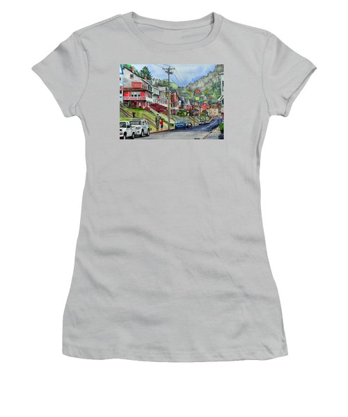 Small Town, America Women's T-Shirt (Athletic Fit)