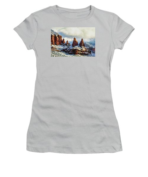 Snow 04-002 Women's T-Shirt (Junior Cut) by Scott McAllister