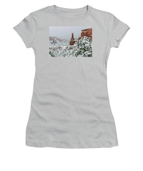 Snow 06-027 Women's T-Shirt (Athletic Fit)