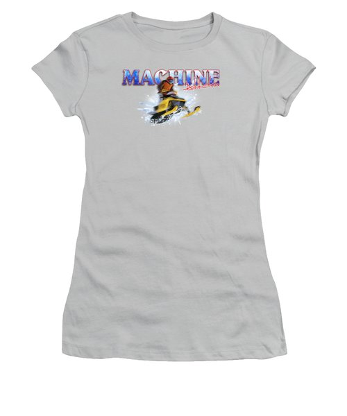 Snow Addiction Women's T-Shirt (Junior Cut) by Rob Corsetti
