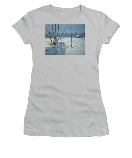 Snow Barn Women's T-Shirt (Athletic Fit)