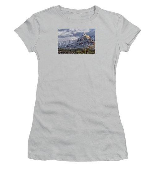 Women's T-Shirt (Junior Cut) featuring the photograph Snowbreak by Tom Kelly