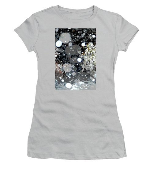 Snowfall Deconstructed Women's T-Shirt (Junior Cut) by Li Newton