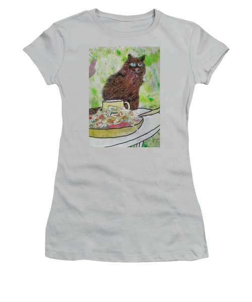 Women's T-Shirt (Junior Cut) featuring the painting So by AJ Brown