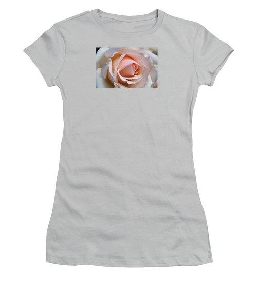 Soft Rose Women's T-Shirt (Junior Cut) by Joy Watson