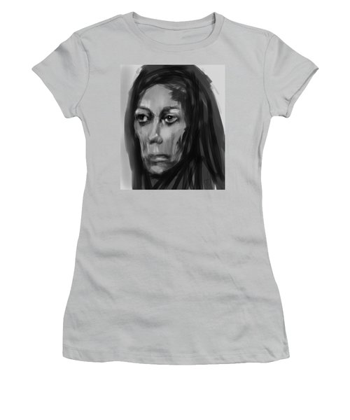Women's T-Shirt (Junior Cut) featuring the painting Solemn by Jim Vance