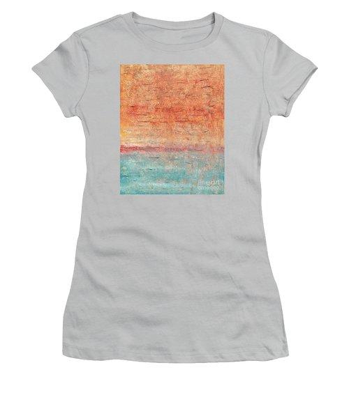 Sonoran Desert #1 Southwest Vertical Landscape Original Fine Art Acrylic On Canvas Women's T-Shirt (Athletic Fit)