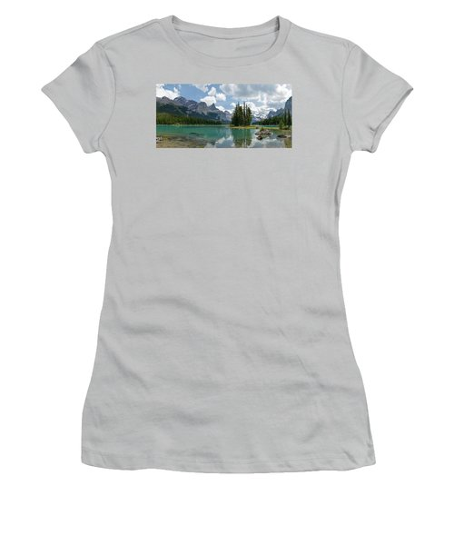 Spirit Island And The Hall Of The Gods Women's T-Shirt (Junior Cut) by Sebastien Coursol