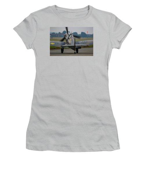 Spitfire Start Up Women's T-Shirt (Junior Cut) by Ken Brannen