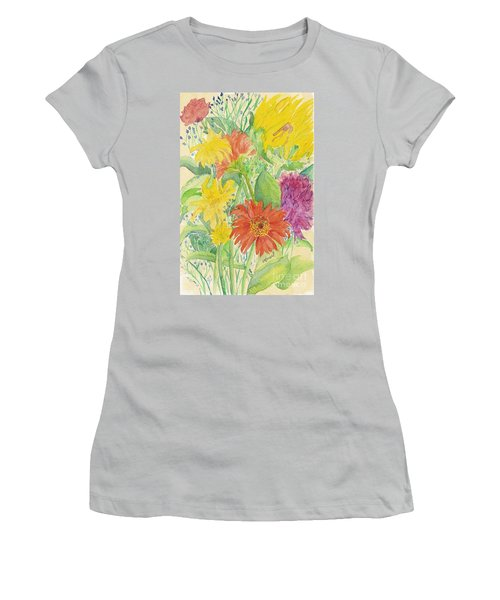 Women's T-Shirt (Junior Cut) featuring the painting Spring Bouquet  by Vicki  Housel