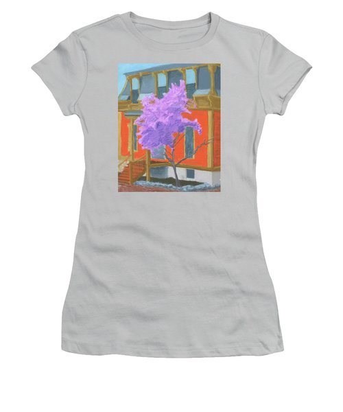 Spring In Pink And Orange Women's T-Shirt (Athletic Fit)