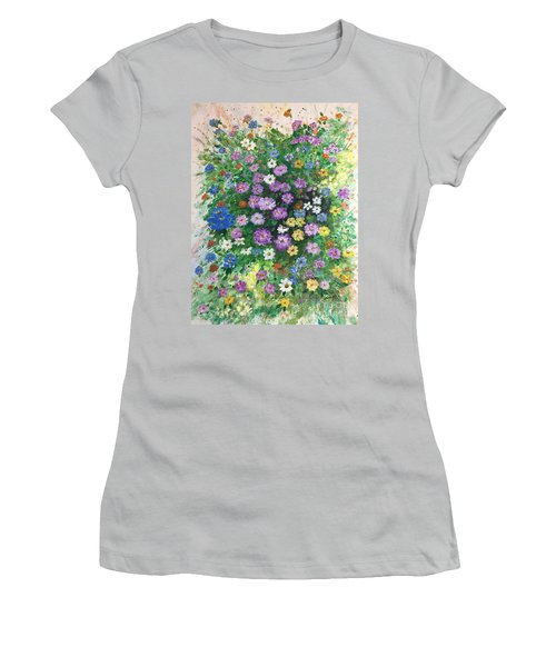 Spring Splendor Women's T-Shirt (Junior Cut) by Lucia Grilletto