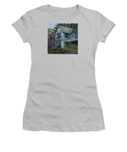 Springtime In Old Town Women's T-Shirt (Athletic Fit)