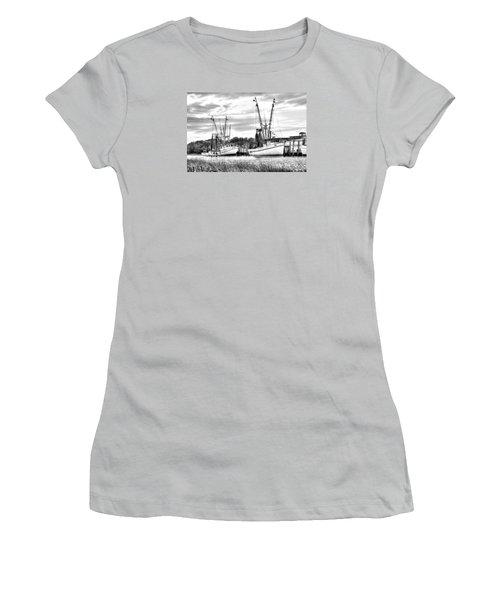St. Helena Shrimp Boats Women's T-Shirt (Athletic Fit)