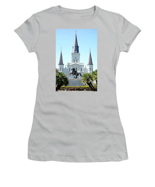 St. Louis Cathedral From Jackson Square Women's T-Shirt (Athletic Fit)