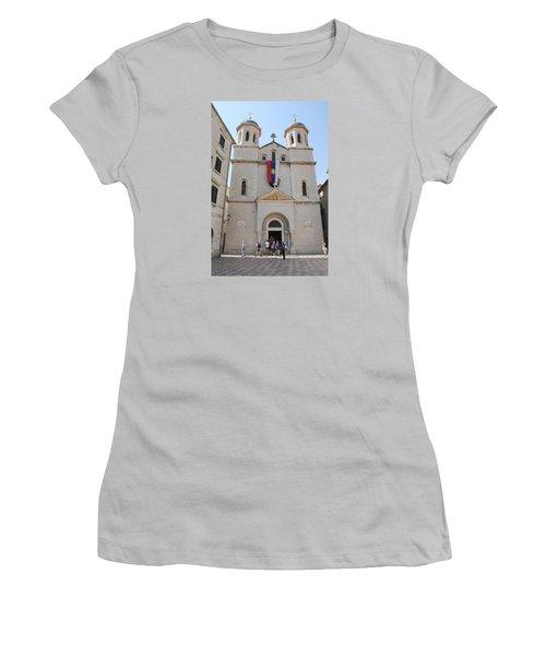 St Nicholas Kotor Women's T-Shirt (Junior Cut) by Robert Moss