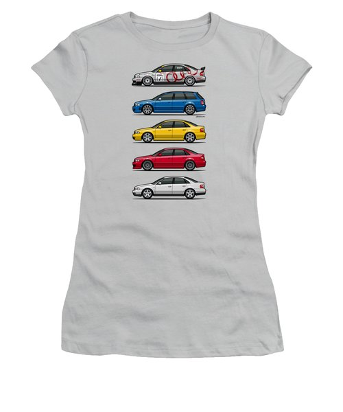 Stack Of Audi A4 B5 Type 8d Women's T-Shirt (Junior Cut) by Monkey Crisis On Mars