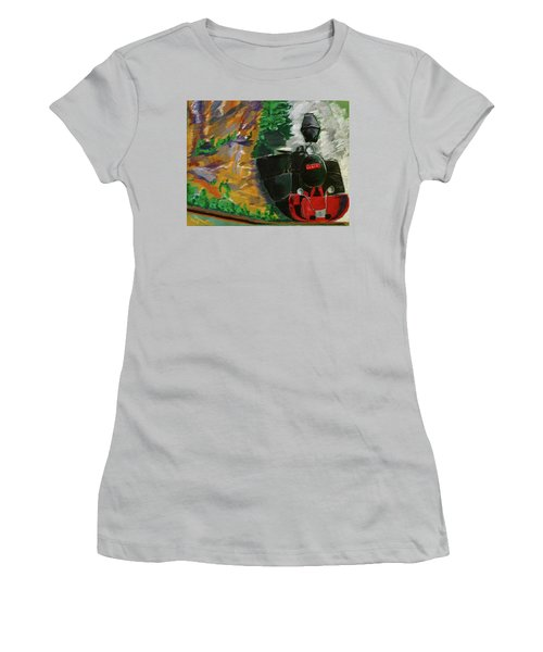 Steam Train Women's T-Shirt (Athletic Fit)