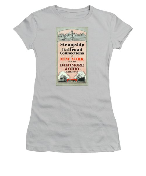 Steamship And Railroad Connections At New York Women's T-Shirt (Athletic Fit)