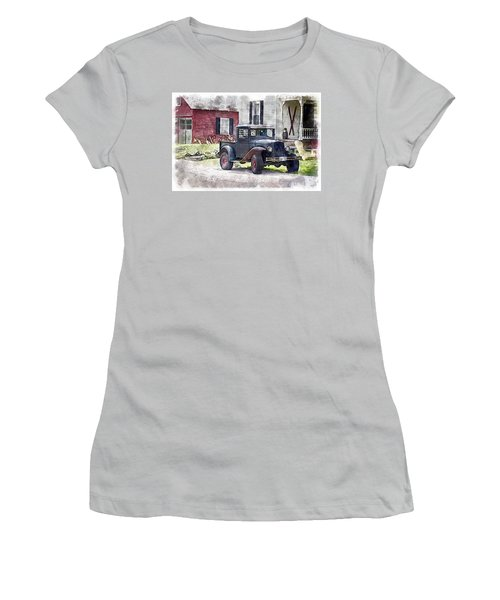 Stepping Back Women's T-Shirt (Athletic Fit)