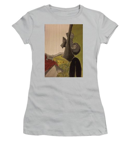 Still Life With A Black Horse- Cubism Women's T-Shirt (Athletic Fit)