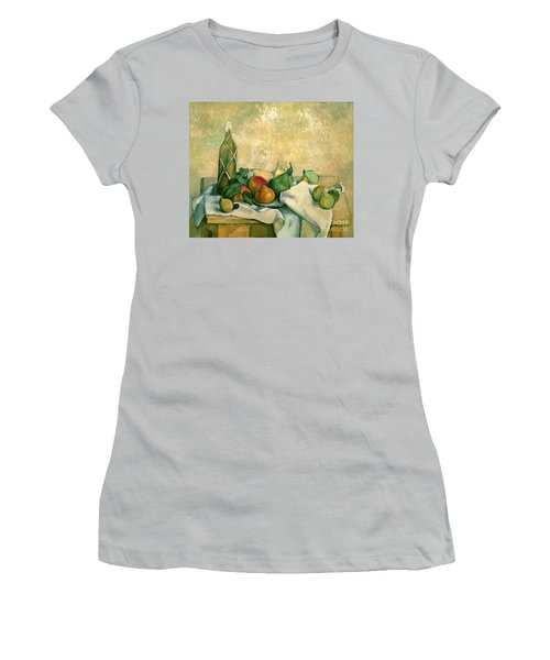 Still Life With Bottle Of Liqueur Women's T-Shirt (Athletic Fit)