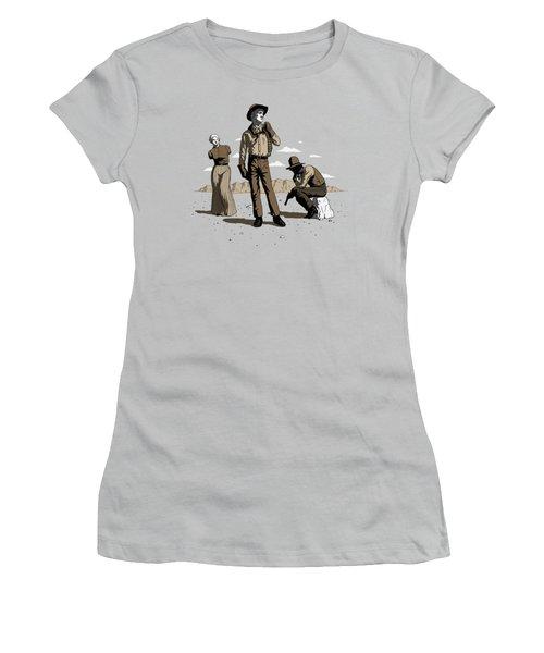 Women's T-Shirt (Junior Cut) featuring the digital art Stone-cold Western by Ben Hartnett