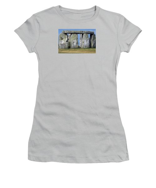 Stonehenge Women's T-Shirt (Junior Cut) by Travel Pics